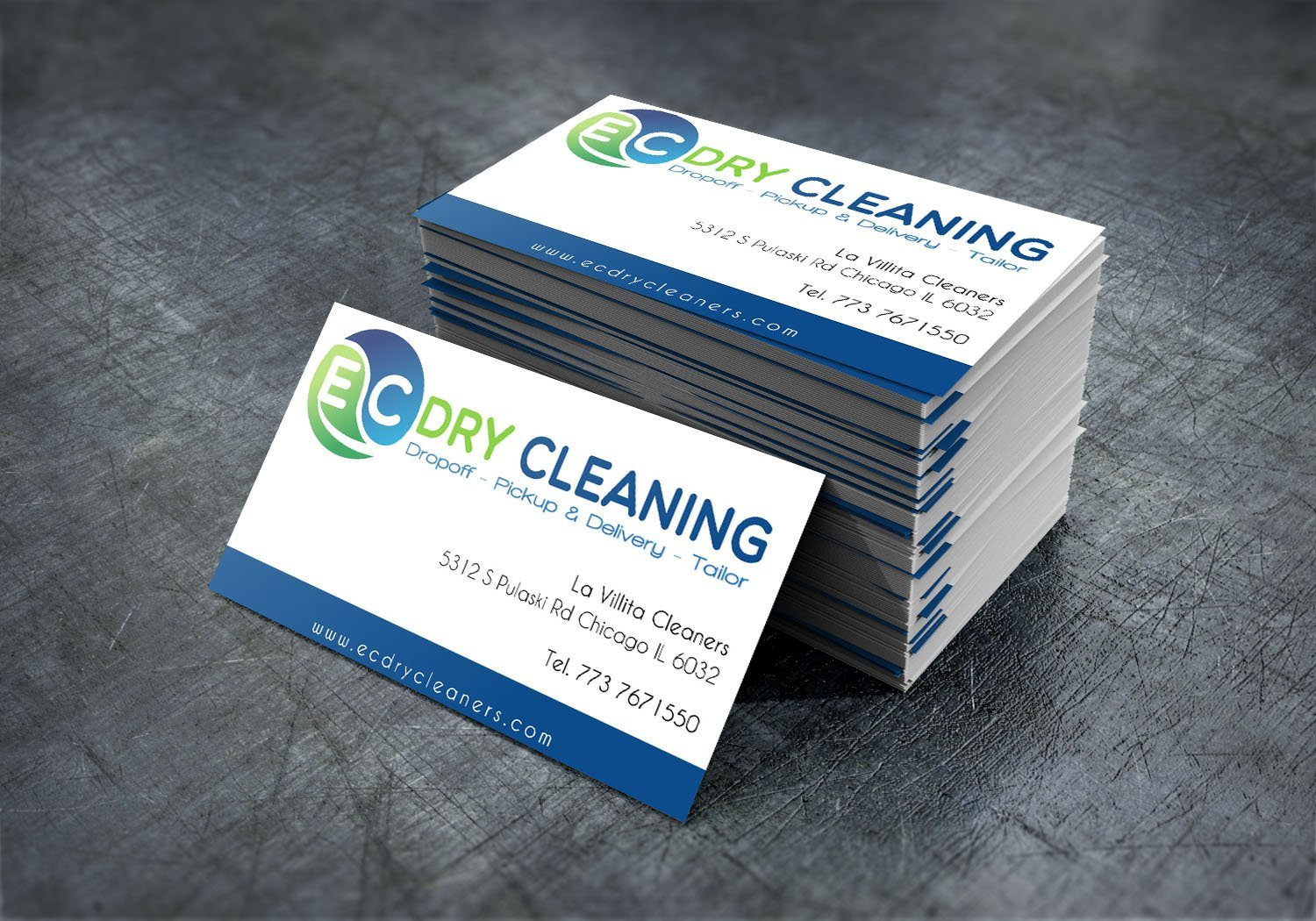 EC Dry Cleanning – Business Cards | Handcut Designs - Chicago Web Design