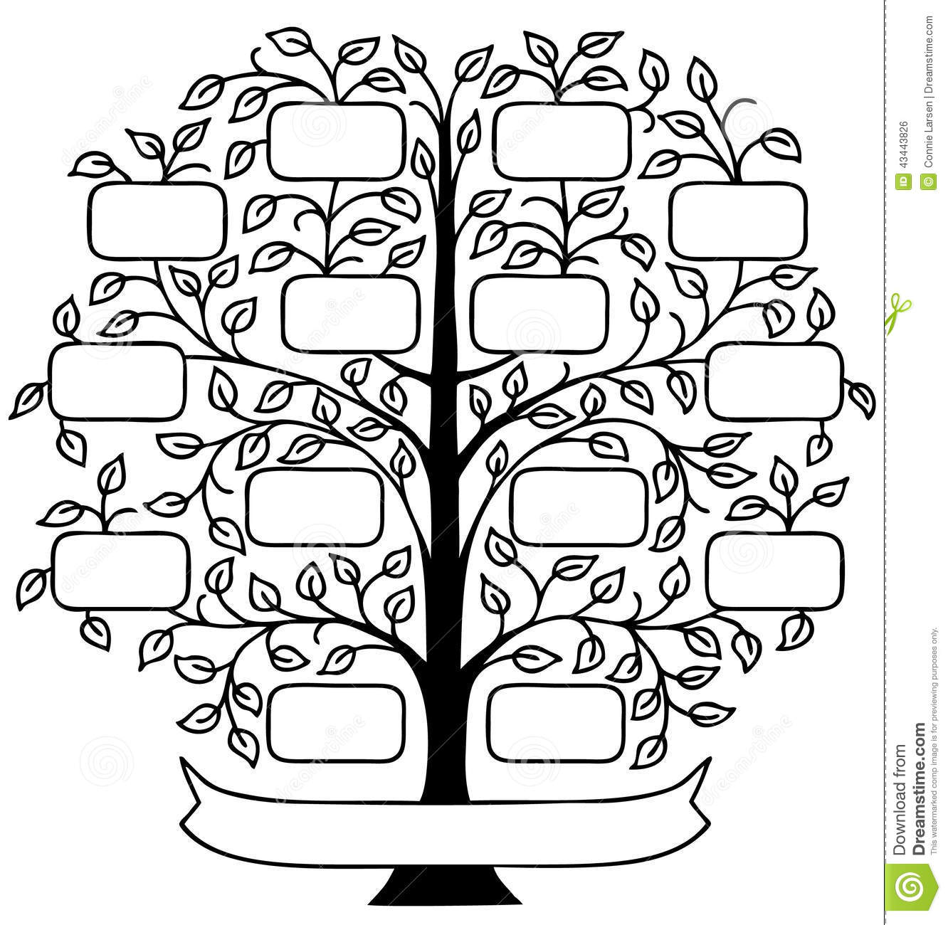 draw a family tree template - wall decal handcut designs chicago web design